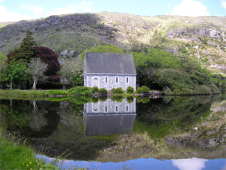 The chapel at Gougane Barra, County Cork
