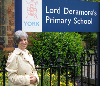 Me at my old primary school in Heslington, on the outskirts of York