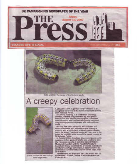 The Press article, 10.8.07