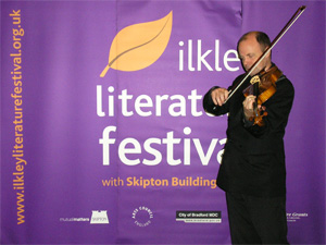 John Rayson at the Ilkley Literature Festival