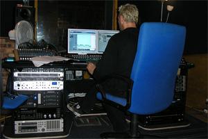 John Greatwood, my sound engineer, at CubeMedia