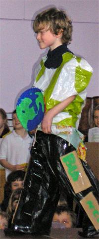Freddy at the Global Awareness Week fashion show, 22 Feb.08