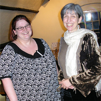 Lynn Allington of Meltons Too and I after the LitFest LitFeast on 9 March2008
