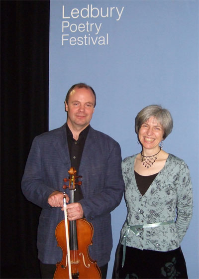 John and Anneliese Buzzing! at the Ledbury Poetry Festival