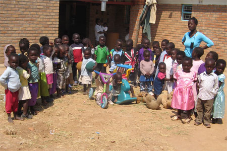 Future pupils at the Mwabi Institute