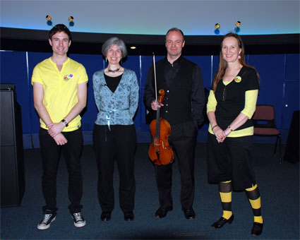 Dan, me, John and Angela - at the 'Busy Bees' event at INTECH (photo by Kate Luke)