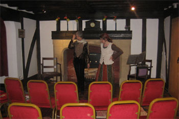 Preparing for our Raucous Rhymes show (Have we got enough chairs? No!)