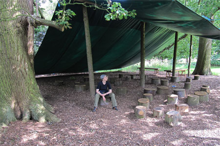In the outdoor classroom at The Arboreturm Trust, Kew at Castle Howard
