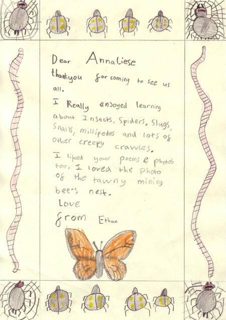 'Thank You' letter from Ethan