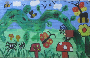 A beautiful mural at Sowerby Community School