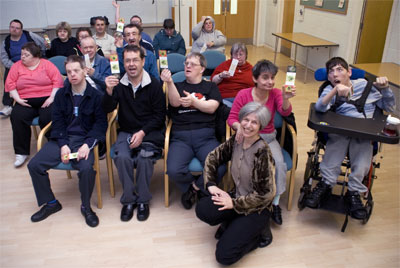 Some more of my Bridlington audience - with their Buzzing! bookmarks (Photo by David Roberts)