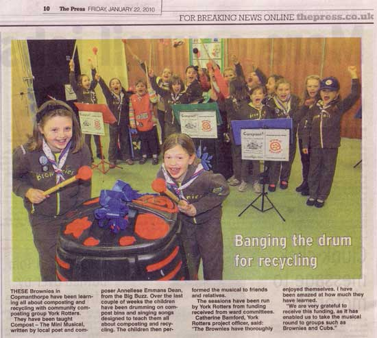 Copmanthorpe Brownies in the York Press, 22.1.10