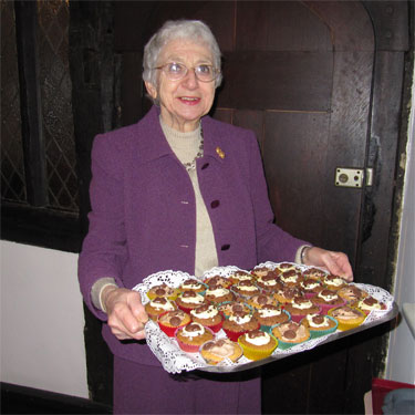 My Mum with her famous buns at Stomping through the Seasons