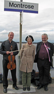 Anneliese with John Rayson and John Yellowlees of ScotRail