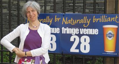 Outside our venue at the Edinburgh Fringe