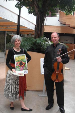 With John Rayson at the Royal Botanic Garden Edinburgh, for our Fringe run