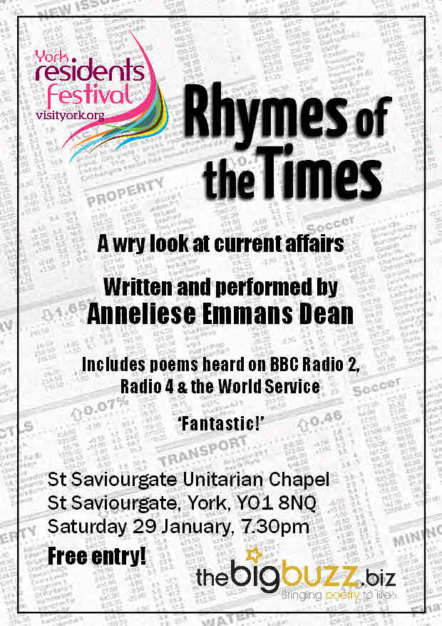 'Rhymes of the Times' performed at York Residents Festival