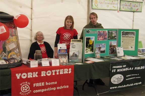 In the Climate Week tent in the centre of York, March 2011