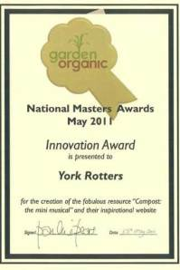 National Masters Innovation Award 2011 for Compost! The (mini-)Musical