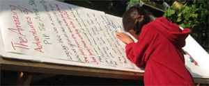 Adding to the World's Longest Apple Poem at St Nick's Apple Day 2011
