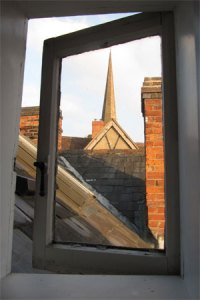 Across the rooftops of historic Ledbury
