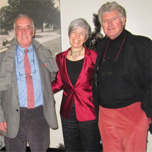 Me (Anneliese) with John Craven and Alwyn Taylor after my Poppleton Arts Rhymes of the Times show, December 2011