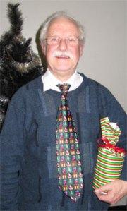 Mr Spencer and his musical tie. Poppleton, December 2011