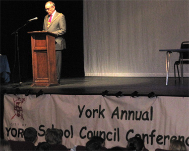 The Lord Mayor of York at the Annual School Council Conference at York Theatre Royal, 22 March 2012