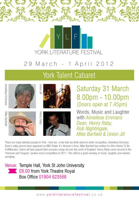 York Literature Festival event flyer