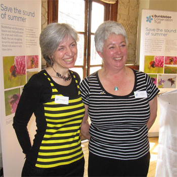 With Gill Perkins, who organised the London launch of Bees for Everyone