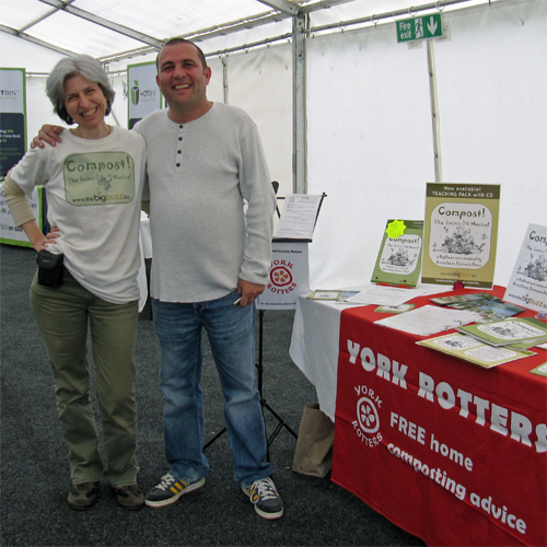 Me with Blue Peter gardener Chris Collins at the National Masters Conference at Garden Organic, 30 june 2012