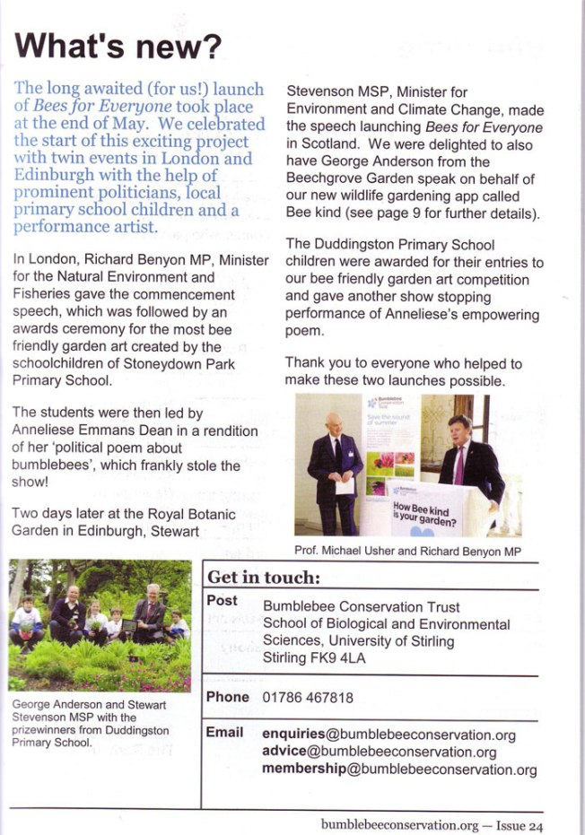 Bumblebee Conservation Trust's Summer 2012 Newsletter