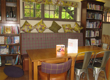 My Buzzing! book on display in the Rowntree Park Reading Cafe, York, September 2012