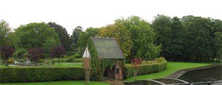 Rowntree Park, York, viewed from the terrace of the Reading Café