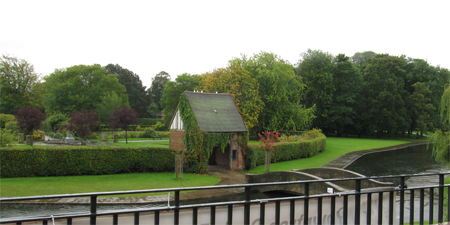 Rowntree Park, viewed from the Reading Café, 25 September 2012