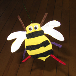 Bumblebee made by a minibeast crafter at our Buzzing! event, Rowntree Park, 6 October 2012