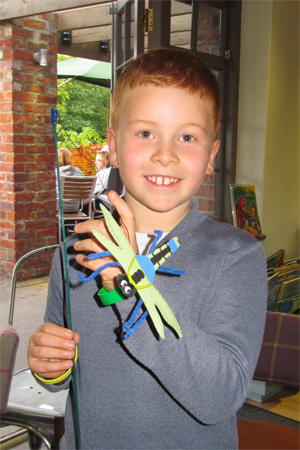 A minibeast crafter at our Buzzing! event in Rowntree Park, 6 October 2012