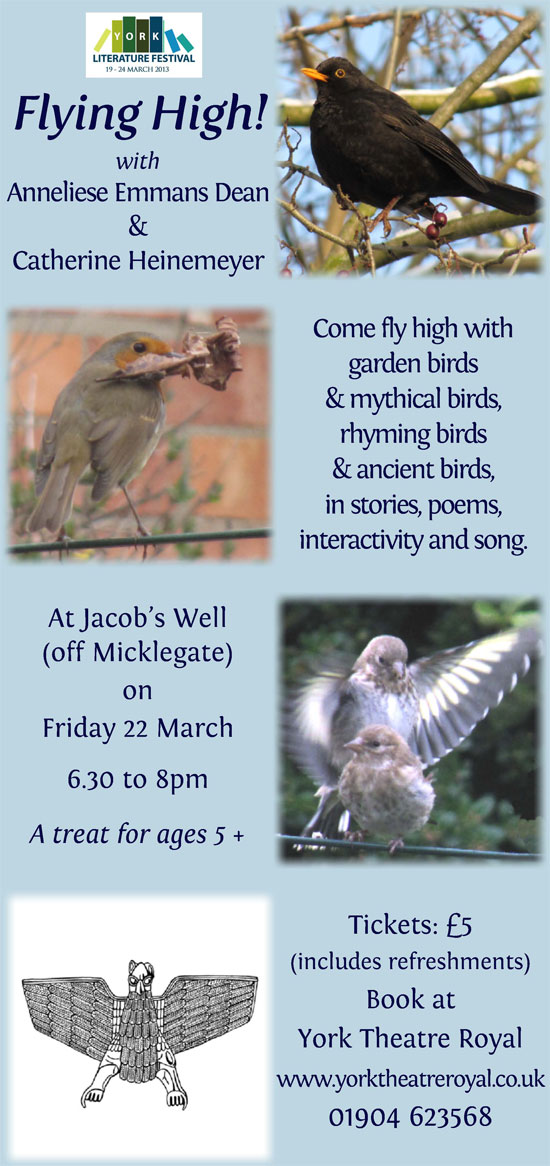 Flying High at York Literature Festival on Friday 22 March 2013