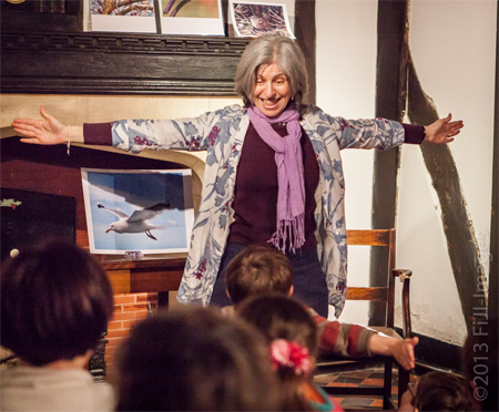 How big is a herring gull's wingspan? This big! From Flying High at York Literature Festival 2013. Photo by John Illingworth.
