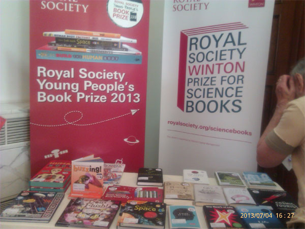 My Buzzing! book on display at the Royal Society Summer Science Exhibition, July 2013