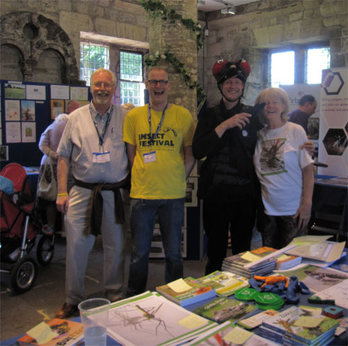 Hugh Loxdale, Luke Tilley, Mike Barfield and my publisher Nicola Loxdale of Brambleby Books enjoying the Insect Festival 2013