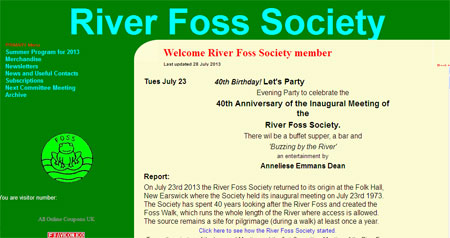 River Foss Society website