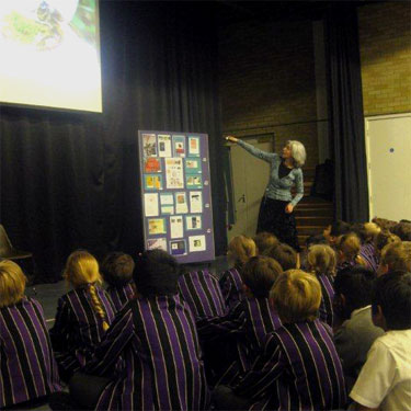 Performing my Buzzing! show for The Perse Prep School