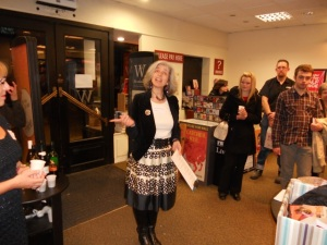 Anneliese Emmans Dean launching York Authors, in Waterstones, York. 11 October 2013