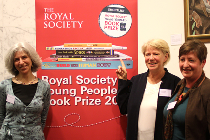 At the Royal Society award ceremony with publisher NIcola Loxdale of Brambleby Books and designer Tanya Warren of Creatix