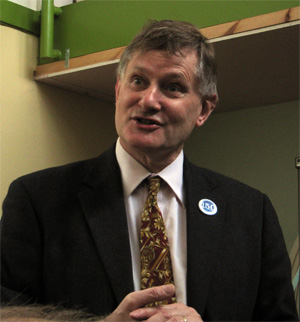 Hugh Bayley MP speaking at St Nicks, 10.5.14
