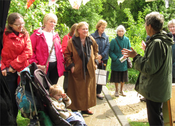 Mrs Green leads a tour of St Nicks, 10.5.14