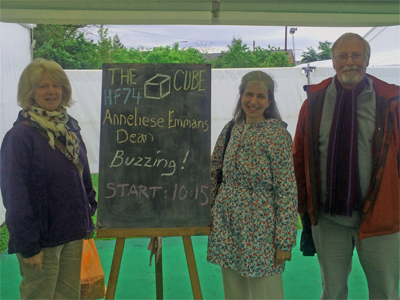With my publishers, Nicola and Hugh Loxdale of Brambleby Books