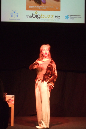 Performing my Buzzing! show at the Hay Festival
