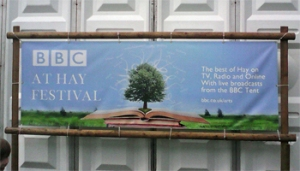The BBC tent at the Hay Festival
